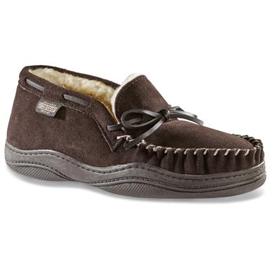 Guide Gear Men's Chukka Moccasin Slippers, Rootbeer