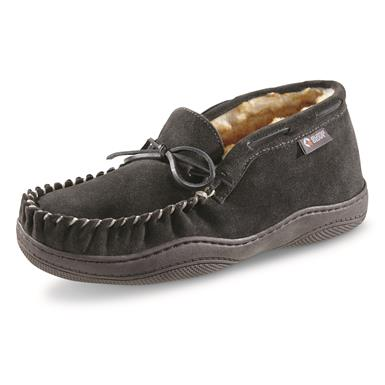 Guide Gear Men's Suede Chukka Moccasin Slippers, Charcoal