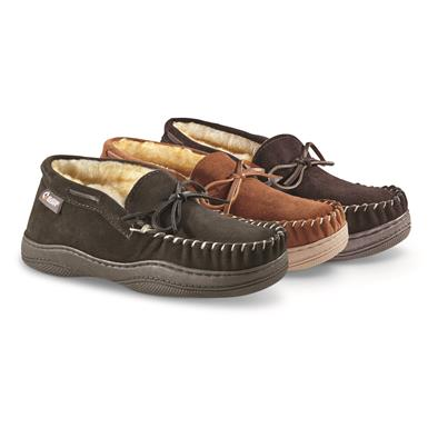 Guide Gear Men's Chukka Moccasin Slippers, Root Beer (HK1