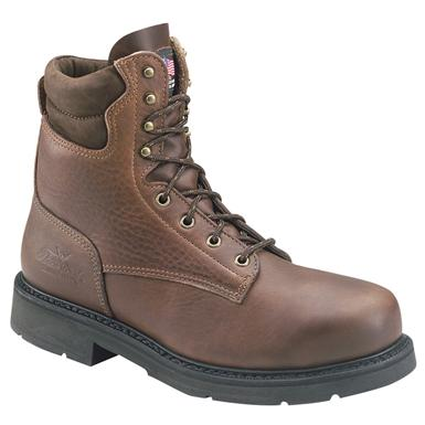"Men's Thorogood 8"" American Heritage Safety Toe Boots, Black Walnut"