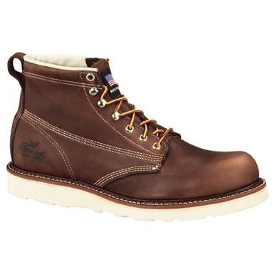 "Men's Thorogood® 6"" Plain Toe Boots, Tobacco"