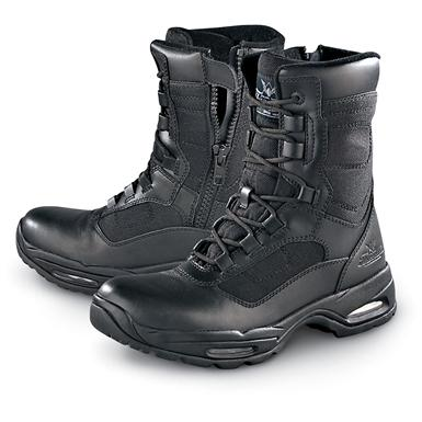 "Men's and Women's Thorogood 8"" Stealth Side-Zip Boots with air bag spring systems, Black"