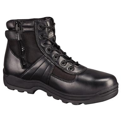 "Men's Thorogood 6"" Waterproof Side-Zip Composite Safety Toe Combat Boots, Black"