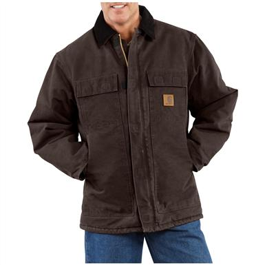 Carhartt® Sandstone Traditional Coat, Dark Brown
