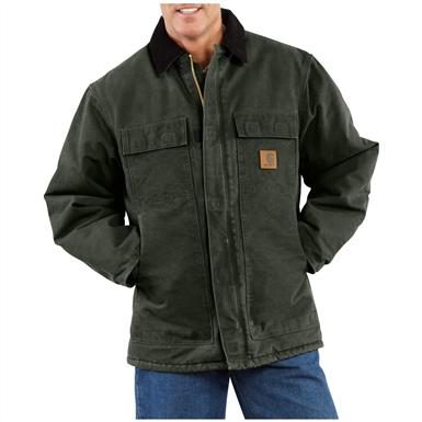 Carhartt Men's Sandstone Arctic Quilt Lined Traditional Coat, Moss