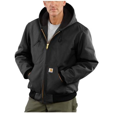 Carhartt® Quilted Flannel Lined Duck Active Jacket, Black