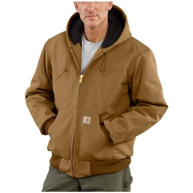 Carhartt® Quilted Flannel Lined Duck Active Jacket, Brown