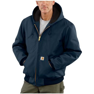Carhartt® Quilted Flannel Lined Duck Active Jacket, Dark Navy