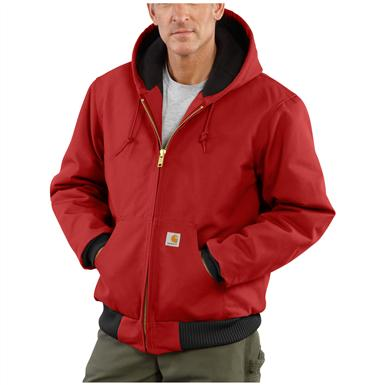 Carhartt® Quilted Flannel Lined Duck Active Jacket, Red