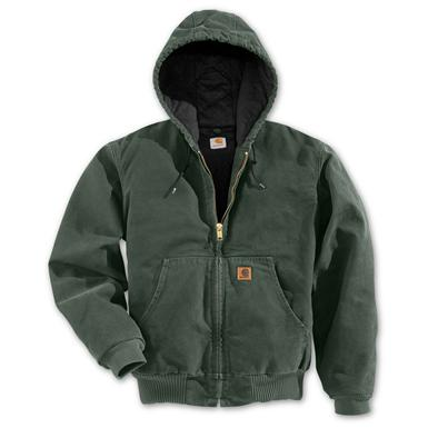 Regular Carhartt Quilted Flannel Lined Sandstone Active Jacket, Army Green