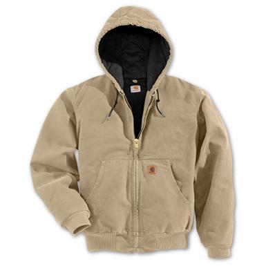 Regular Carhartt Quilted Flannel Lined Sandstone Active Jacket, Camel
