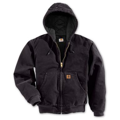 Regular Carhartt Quilted Flannel Lined Sandstone Active Jacket, Black
