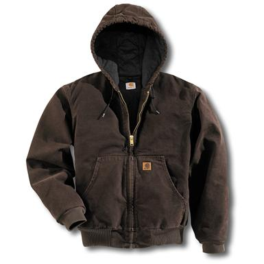 Regular Carhartt Quilted Flannel Lined Sandstone Active Jacket, Dark Brown