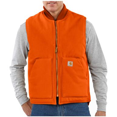 Carhartt® Arctic Quilt Lined Duck Vest, Blaze Orange