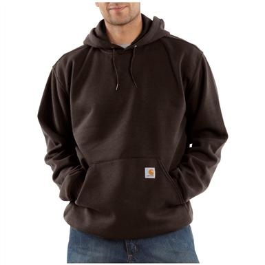 Carhartt® Midweight Hooded Pullover Sweatshirt, Dark Brown