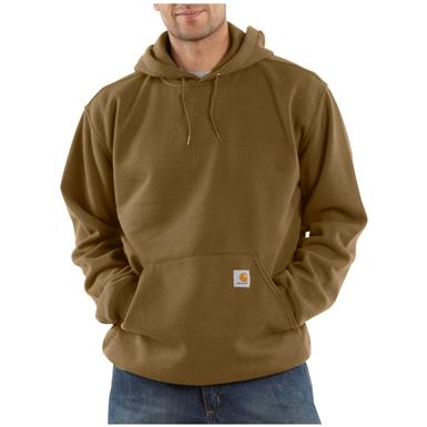 Carhartt® Midweight Hooded Pullover Sweatshirt, Brown Boot