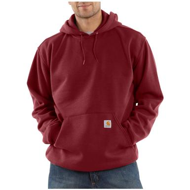Carhartt® Midweight Hooded Pullover Sweatshirt, Dark Red