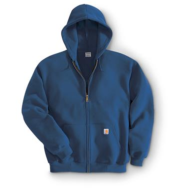 Carhartt® Midweight Hooded Zip-Front Sweatshirt, New Navy