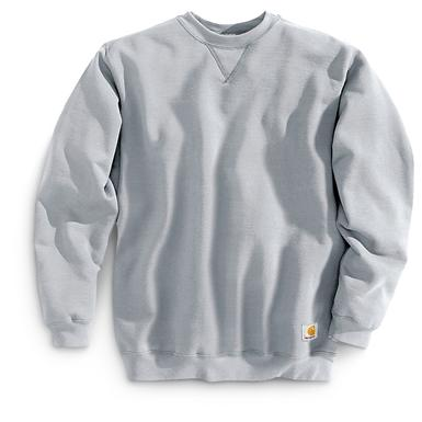 Carhartt Workwear Midweight Crewneck Sweatshirt, Heather Gray