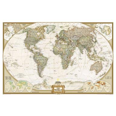 "National Geographic 6'4""x4' Executive World Map"