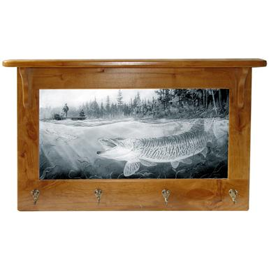 Island City Pictures Musky Bay Mirror and Coat Rack