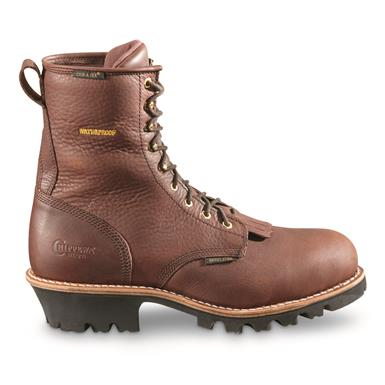 Chippewa Men's Paladin Briar Insulated Waterproof Steel Toe Logger Boots, 400 Gram, Briar