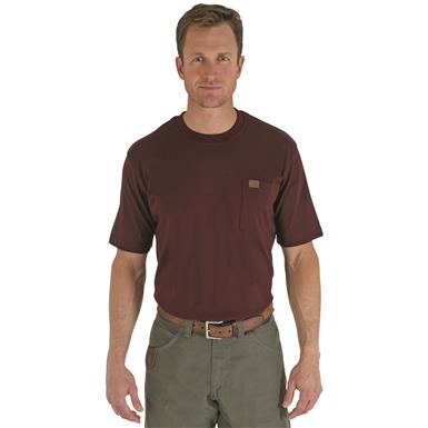 Wrangler Riggs Workwear Short Sleeve Pocket T-shirt, Burgundy