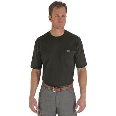 Wrangler Riggs Workwear Short Sleeve Pocket T-shirt, Black