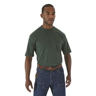 Wrangler Riggs Workwear Short Sleeve Pocket T-shirt, Forest Green