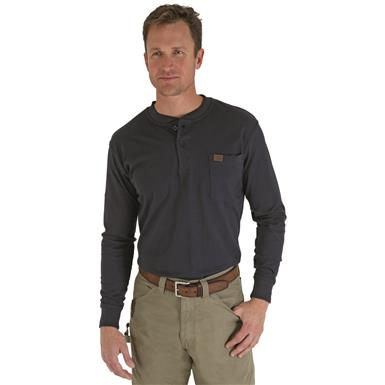 Men's Wrangler® RIGGS Workwear® Long Sleeve Henley, Navy