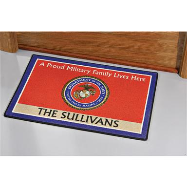 Personalized Military Doormat, Marines