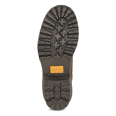 One-piece rubber lug outsole is oil-resistant, Briar