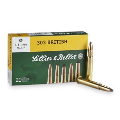 Sellier & Bellot, .303 British, SP, 150 Grain, 20 Rounds