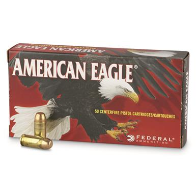 Federal American Eagle, 9mm Luger, FMJFP, 147 Grain, 50 Rounds