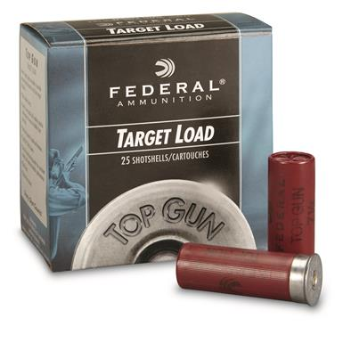 "Federal, Top Gun Target, 12 Gauge, 2 3/4"" 1 oz. Shotshells, 25 Rounds"