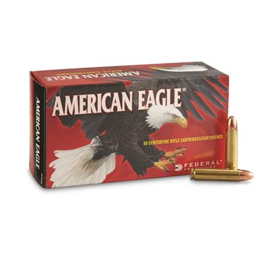 Federal American Eagle, .30 Carbine, FMJ, 110 Grain, 50 Rounds