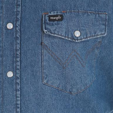Snap-flap chest pockets, Stonewash