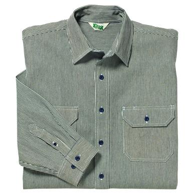 Long Sleeve Button Down Logger Shirt by Key® with Hickory Stripe Design