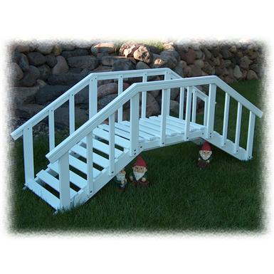 Prairie Leisure Large Decorative Garden Bridge with Post and Rails