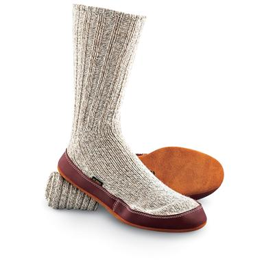 Acorn Unisex Ragg Wool Slipper Socks, Gray