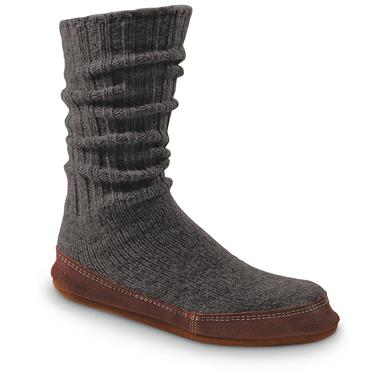 Acorn Unisex Ragg Wool Slipper Socks, Charcoal