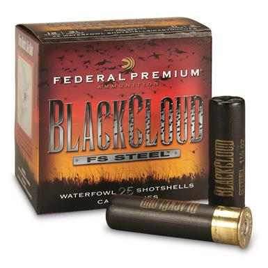 "Federal Premium, Black Cloud FS Steel, 12 Gauge, 3 1/2"" Shot Shells, 25 Rounds"