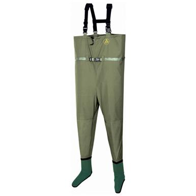 Pro Line Men's Sage Creek Breathable Chest Waders, Stocking Foot, Amber Olive