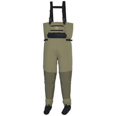 Pro Line Men's Summit Stocking Foot Breathable Waders, Green