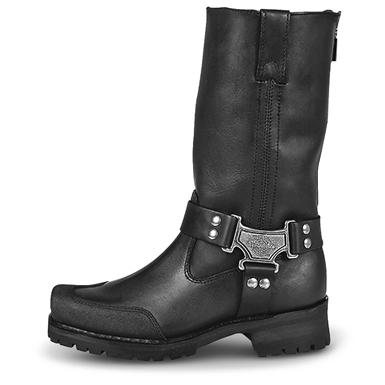 Men's Milwaukee Drag Back Zip Harness Boots, Black