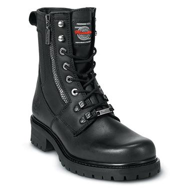 Women's Milwaukee Trooper Zip Logger Boots, Black
