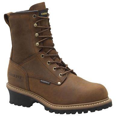 "Men's Carolina® 8"" Insulated Steel Toe Logger Work Boots, Copper"