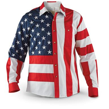 Scully Men's Red / White / Blue Americana Shirt