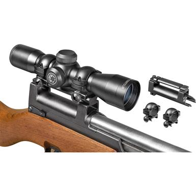 Barska 4x32 mm Compact Contour Rifle Scope, Matte Black