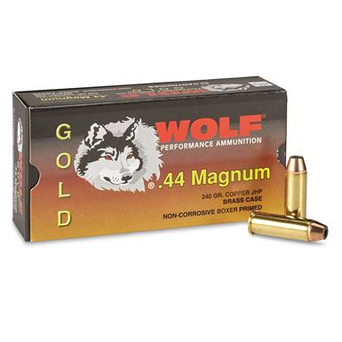 Wolf, Gold Line, .44 Magnum, JHP, 240 Grain, 50 Rounds